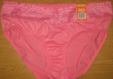 NWT WARNER'S PREVENTS MUFFIN TOP  LACE HIPSTER  BRIEF  #5609 CORAL  7/L