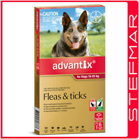 Advantix for Dogs 10-25Kg Large Red 6Pack