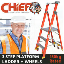 CHIEF 3 Step Fibreglass Platform Ladder