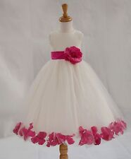 FREE SHIPPING FLOWER GIRL DRESS PAGEANT BIRTHDAY HOLIDAY CHRISTMAST PARTY BRIDAL
