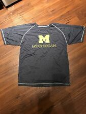 2 Identical Boys Michigan Wolverines Dry Fit Shirt, XL 16/18 MINT