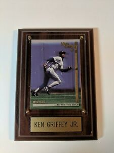 1995 Megacards Griffey Jr. Wish List #13 KG Wishes: To Win the/Gold in plaque