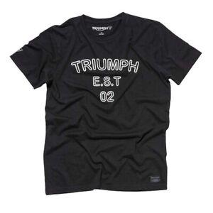 "MTSA19105-XXL GENUINE TRIUMPH ""SHEENE"" BLACK T-SHIRT SIZE XXLARGE"