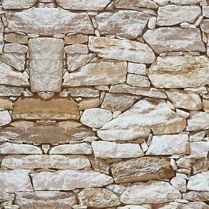 3D Realistic Stone Effect Textured Wallpaper Self Adhesive Wall Sticker Film