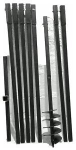 Erdbohrer Erdlochbohrer Brunnenbohrer 150 mm 8 m Pfahlbohrer Handerdbohrer