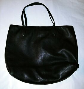 COACH Leather Shoulder Tote Handbag LARGE Womens Preowned Details! USED!
