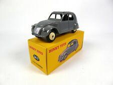 Citroën 2CV grise toit noir - 1/43 DINKY TOYS Voiture miniature 24T (MB102)