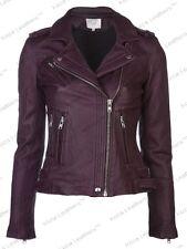 HOT Women's Genuine Lambskin Real Leather Motorcycle Slim fit Biker Jacket WN236