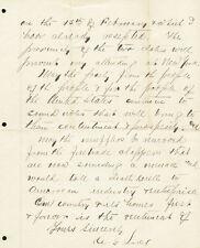 CYRUS G. LUCE - AUTOGRAPH LETTER SIGNED 01/30/1888