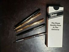 Lot of Six Fisher Space Pens, one in original box with papers