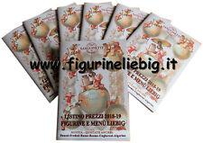 Listino Prezzi Figurine e Menù Liebig 2018 2019 Sanguinetti Chromo Lotto Stock