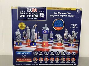 NEW 2020 Battle for The White House Chess Set Board Game Republican vs. Democrat