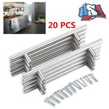 Modern Stainless Steel Kitchen Cabinet T Pulls Handles knobs Hardware 2 Styles
