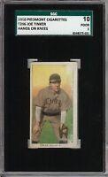 1909-11 T206 HOF Joe Tinker Hands on Knees Piedmont 350 Chicago SGC 10 / 1