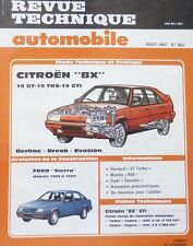 NEUF Revue technique CITROEN BX 19 GT TRS GTI EVASION RTA 482 1987 + FORD SIERRA