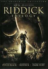 Riddick Trilogy 2 DISC 3 Movies PITCH BLACK, DARK FURY, RIDDICK Universal 2006