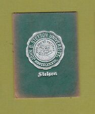c1910 tobacco/ college leather L series STETSON UNIVERSITY #6  NICE...