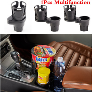 Carbon Fiber Car Center Console Drink Dual Cup Holder For Interior Accessories
