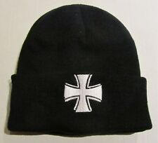 Mütze Watchcap Eisernes Kreuz hochwertiger Stick Pit Bull Biker
