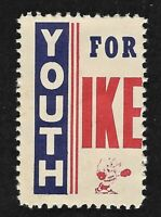 Eisenhower Presidential Promotional Youth for Ike Stamp