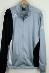 adidas Mens Sz 2XL Gray Full Zip Long Sleeve Track Jacket