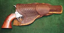 "Antique 1880's Western Single Loop Basketweave Holster Colt 6"" Single Action"