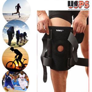 Adjustable Knee Brace Wraparound Open Patella Support Neoprene Wrap Black