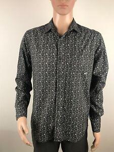 Quicksilver  Mens Button Front Long Sleeve Shirt Size Medium