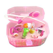 Kids Role Toy Girls Boys Children Gift Box Birthday Doctor Kit Medical Play Set