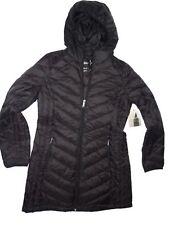 London Fog Black Packable down hooded winter Coat size Medium M
