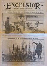 AVIATION AEROPLANE MORT CAPITAINE TARRON BELGIQUE LANGUE FRANCAIS EXCELSIOR 1911