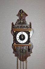 Vintage DUTCH Zaanse Zaandam JWA Wuba ATLAS Nu Elck Syn Sin Wall Clock