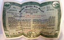 Beautiful 1930 Wright Flexible Axle Motors Stock Certificate with Rider