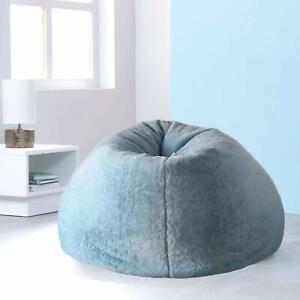 Bean Bags Jumbo Size Fur Designer Bean Bag Comfort Blue for a luxuries Home