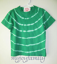 HANNA ANDERSSON Tie Dye Art Tee Shirt Top Just Cut Grass Green 120 6-7 NWT