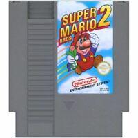 Super Mario Bros 2 Authentic NES Game Cartridge Clean *VG