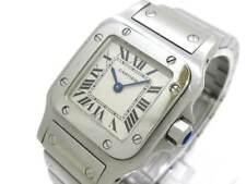 Auth Cartier Santos Galbee SM W20056D6 Ivory 1565 935788CD Women's Wrist Watch