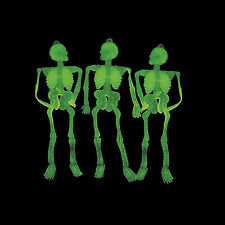 Lot of 36 GLOW IN THE DARK Skeletons Halloween Haunted House Party Favor Decor