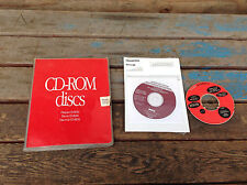 Vintage CD-Rom Discs Folder with Vintage Mac Software + Windows XP