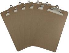 Legal Size Clipboard 9'' x 15.5'' Standard Metal Clip Hardboard (Pack of 6)