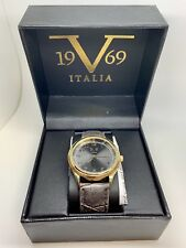 Versace V 1969 Italia Watch Brown/Gold/Brown NEW