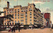 MI - RARE! 1910 Cadillac Hotel in Detroit, Michigan