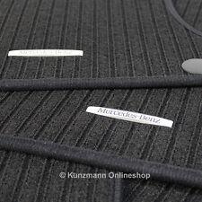 Original Mercedes Benz Fußmatten Satz Ripsmatten schwarz C-Klasse W204
