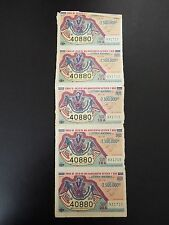 Loteria Nacional Set of 5 Mexican Lottery Tickets 1976