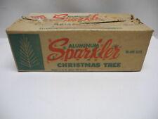 Vintage 1960's Sparkler Aluminum Christmas Tree 3.5 Foot w/ Box W-498 Star Brand