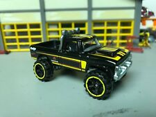 "1/64 1970 Dodge Power Wagon 4X4/Black/Yellow Stripes/5"" Lift Kit/Off Road Tires"