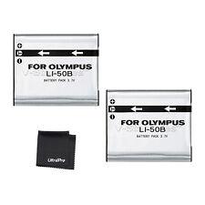 2x LI-50B LI50B Battery + BONUS for Olympus Stylus, MJU, S, Tough, VR, X Cameras