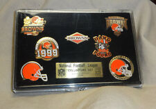 VINTAGE CLEVELAND BROWNS 7 PIECE PIN NFL COLLECTORS SET LIMITED EDITION TO 2500