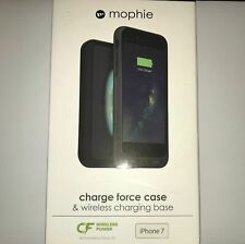 Mophie Charge Force Case w/Wireless Charger Base for iPhone 7 & iPhone 8 - Black