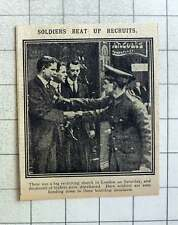 1915 London Recruiting March Soldiers Leafleting To 3 Boot Shop Assistants